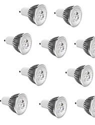 cheap -10pcs 3 W LED Spotlight 250 lm E14 GU10 GU5.3 3 LED Beads High Power LED Decorative Warm White Cold White 85-265 V