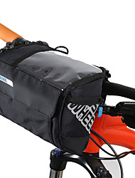 cheap -3 L Bike Handlebar Bag Portable Rain Waterproof Wearable Bike Bag Leather PVC(PolyVinyl Chloride) 400D Nylon Bicycle Bag Cycle Bag Cycling Outdoor Exercise Bike / Bicycle