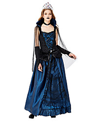 cheap -Witch Cosplay Costume Masquerade Adults' Women's Cosplay Halloween Halloween Festival / Holiday Tulle Plush Fabric Blue Women's Carnival Costumes