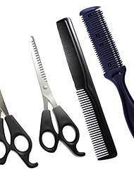 cheap -Dog Cleaning Grooming Scissors Special Material Scissor Clipper & Trimmer Durable Pet Grooming Supplies Black Four-piece Suit