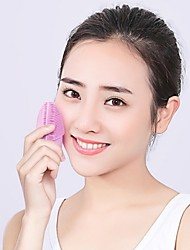 cheap -Face Washer Ultrasonic Silicone Face Brush Face Electric Pore Cleaner Import Cleansing Instrument Face Washer