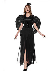 cheap -Fallen Angel Cosplay Costume Masquerade Adults' Women's Cosplay Halloween Halloween Festival / Holiday Cotton Polyster Black Women's Carnival Costumes