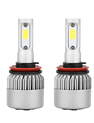 cheap -1 Pair H11 S2 LED Headlight Kit 4000LM/Bulb 6500K Beam Fog Bulb HID White