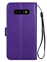 cheap -Case For Samsung Galaxy Card Holder / Flip / Magnetic Full Body Cases Solid Colored TPU
