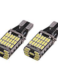 Недорогие -2pcs T15 Автомобиль Лампы SMD 4014 45 Светодиодная лампа Лампа поворотного сигнала / Тормозные огни / Фонари заднего хода (резервные) Назначение Универсальный Все года