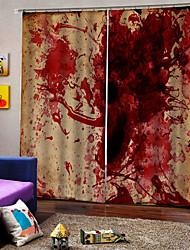 Недорогие -Хэллоуин тема кровь брызги фон шторы уф цифровая печать занавес затемнения влагостойкие пользовательские ткани для штор