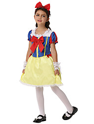 cheap -Snow White Outfits Kid's Girls' Halloween Halloween Festival / Holiday Spandex Polyester / Polyamide Blue Carnival Costumes