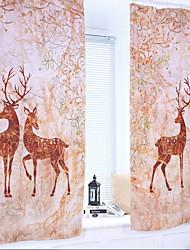 cheap -Animal Design Semi-Sheer One Panel Curtain Boys Room   Curtains