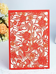 "cheap -Wrap & Pocket Wedding Invitations 30pcs - Invitation Cards / Thank You Cards / Response Cards Artistic Style / Modern Style / Floral Pearl Paper 5""×7 ¼"" (12.7*18.4cm)"