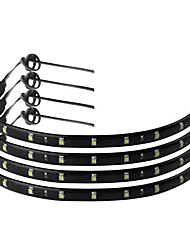 cheap -4pcs 30CM 15 LED Car Strip Light Waterproof Flexible Auto Wheel light For Motors Truck Vehicles DC 12V