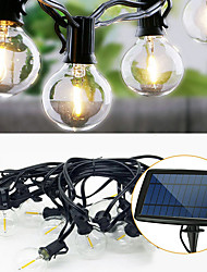 cheap -6m String Lights 25 LEDs Warm White Solar / Decorative Solar Powered 1 set