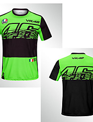 cheap -New 2019 thin 46 green quick-drying off-road motorcycle riding short-sleeved racing knight fast-drying breathable MOTO GP motorcycle male t-shirt