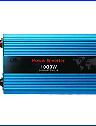 Недорогие -1000 Вт двойной USB встроенный инвертор постоянного тока 24 В до переменного тока 220 В автомобиля инвертор