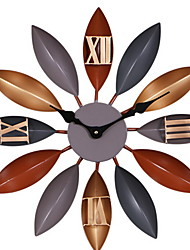 cheap -Modern Contemporary Plastic & Metal Irregular Indoor Other Battery Powered Decoration Wall Clock Polished No