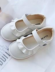 cheap -Girls' Flower Girl Shoes PU Flats Little Kids(4-7ys) White / Black / Pink Summer