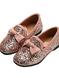 cheap -Girls' Moccasin PU Flats Little Kids(4-7ys) Sparkling Glitter Black / Pink / Silver Summer