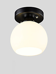 cheap -1-Light Mini Ceiling Light Flush Mount Lights Glass Ambient Pendant Light Painted Finishes Metal