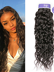 cheap -3 Bundles Malaysian Hair Water Wave Remy Human Hair 100% Remy Hair Weave Bundles Natural Color Hair Weaves / Hair Bulk Extension Bundle Hair 8-28 inch Natural Human Hair Weaves Valentine Cute Creative