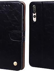 Недорогие -Чехол для Huawei P20 Pro Palace цветок PU кожа с слотом для карт откидной вверх и вниз для Huawei P20 Pro