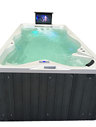 cheap -Outdoor spa tub whirlpool Massage bathtubs 4 people Freestanding Jacuzzi