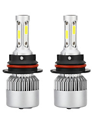 cheap -1pair Auto S2A 9007 Headlight Bulbs 6500K 72W 8000LM Car Styling White LED Bulbs