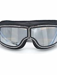 Недорогие -кожа винтажные очки скутер пилот лыжные солнцезащитные очки шлем очки оправа цветные коричневые линзы colordark коричневый
