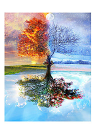 cheap -Tree Botany DIY Painting By Numbers Wall Art Picture Canvas Painting For Wedding Decoration