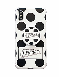 cheap -Case For Apple iPhone XS / iPhone XR / iPhone XS Max Shockproof / with Stand / IMD Back Cover Word / Phrase TPU