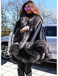 cheap -Long Sleeve Faux Fur / Polyester Taffeta Wedding Women's Wrap With Fur Coats / Jackets