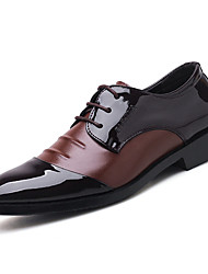 cheap -Men's Leather Shoes Leather Summer Business Oxfords Black / Brown / Party & Evening / Party & Evening