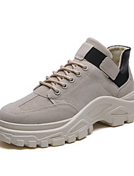 cheap -Men's Suede Shoes Suede Spring / Fall & Winter Casual Boots Hiking Shoes Breathable Booties / Ankle Boots Black / Beige / Khaki / Outdoor / Fashion Boots