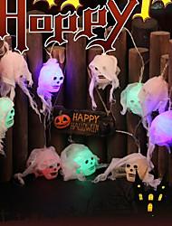 Недорогие -5 м 20 светодиодов теплый белый свет строка хэллоуин из светодиодов белая пряжа череп батареи фонарь хэллоуин украшения поделки лампа