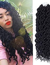cheap -Laflare Extension Curly Braids Crochet Hair Braids Curly Synthetic Hair Medium Length Hair Extension Bulk Hair Drawstring 1 Piece Extention Best Quality New Women's Halloween
