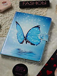 cheap -7-7.9 Inch Adjustable Case For Apple / Samsung Galaxy / Huawei / Acer / Asus / Amazon / Lenovo Universal Wallet / Card Holder / with Stand Full Body Cases Blue Butterfly PU Leather