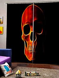 Недорогие -новый ужас череп 3d цифровая печать шторы плотные ткани занавес для гостиной спальня украшения занавес готовые