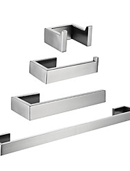 cheap -Toilet Paper Holder / Towel Bar / Bathroom Accessory Set Creative / New Design Traditional / Contemporary Stainless Steel / Iron / Metal / Stainless Steel 4pcs - Bathroom Wall Mounted