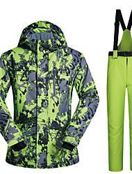 cheap -MUTUSNOW Men's Ski Jacket with Pants Skiing Snowboarding Winter Sports Waterproof Windproof Warm Polyester Clothing Suit Ski Wear