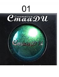 abordables -marque cmaadu caméléon métal palette de fard à paupières monochrome diamant perle brillante ombre à paupières brillante durable maquillage pour les yeux