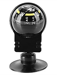 cheap -Compasses Compass Easy to Carry Suction Cup Mounts Plastic Outdoor Exercise Camping / Hiking / Caving Black