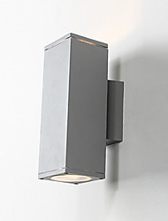 cheap -LED Wall Sconce Cylinder Wall Lantern Aluminum Lights Garden Yard Night Light Lamps Modern Simple Wall Mounted Flush Mount Lamps