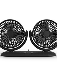 cheap -360 Rotating Free Adjustment Dual Head Cooling Fan 3 Speed Adjustable Quiet USB Fan for Car/Home/Office- Black