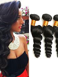 cheap -3 Bundles Malaysian Hair Loose Wave 100% Remy Hair Weave Bundles Natural Color Hair Weaves / Hair Bulk Extension Bundle Hair 8-28 inch Natural Color Human Hair Weaves Odor Free Fashionable Design