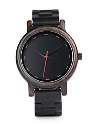 cheap -Men's Dress Watch Japanese Japanese Quartz Stylish Wood Black No Casual Watch Wooden Analog Fashion - Black Two Years Battery Life