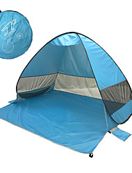 cheap -3 person Screen Tent Family Tent Outdoor Lightweight Windproof UV Resistant Single Layered Automatic Camping Tent 1000-1500 mm for Fishing Beach Camping / Hiking / Caving Coating Terylene 200*165*130