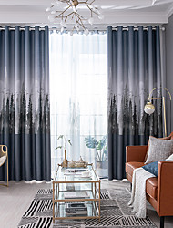 cheap -Artistic Style Privacy Two Panels Curtain Living Room   Curtains