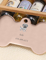 cheap -Personalized Customized Pug Dog Tags Classic Gift Daily 1pcs Gold Silver Rose Gold