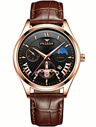 cheap -Men's Dress Watch Japanese Quartz PU Leather Black / Brown 30 m Water Resistant / Waterproof Calendar / date / day Chronograph Analog New Arrival Fashion - Black Black / White Black / Brown Two Years