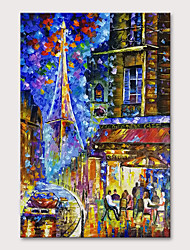 cheap -Oil Painting Hand Painted Vertical Landscape Abstract Landscape Modern Rolled Canvas (No Frame)