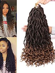 cheap -Faux Locs Dreadlocks Goddess Locs Box Braids Synthetic Hair 18 inch Braiding Hair 1 Piece