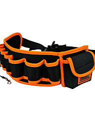 cheap -jakemy jm-b04 hardware mechanics electrician canvas tool bag belt utility kit pocket pouch organizer bag orange black